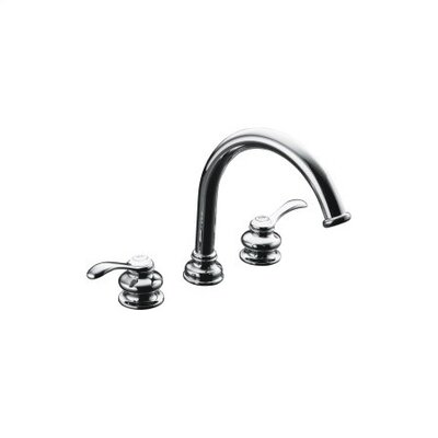Kohler Fairfax Double Handle Deck Mount Tub Only Faucet Trim Lever Handle and Traditional Non-Diverter Slip-Fit Spout