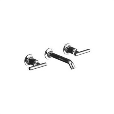 Kohler Purist Wall Mounted Bathroom Faucet with Double Lever Handles