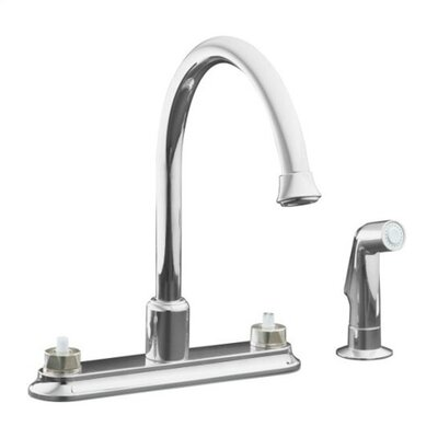 Coralais Decorator Two Handle Centerset Kitchen Faucet with Handle Options