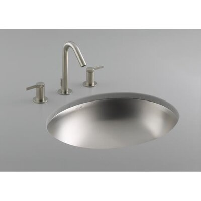 Bachata Stainless Steel Undercounter Bathroom Sink - K-2608-NA