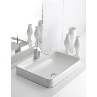Kohler Bathroom Faucet on Kohler Vox Rectangular Vessel Bathroom Sink With Faucet Deck   K 2660