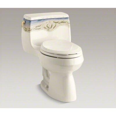 Beneke Magnolia Oak Round Toilet Seat with Brass Hinge   Wayfair