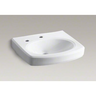 Kohler Pinoir Bathroom Sink Basin with Single Faucet Hole and Left-Hand Soap/Lotion Dispenser