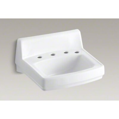 Kohler Greenwich Wall-Mounted Or Concealed Carrier Arm Mounted Commercial Bathroom Sink