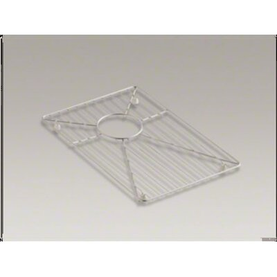 Kohler Vault Stainless Steel Bottom Bowl Rack, 19.18&quot; x 16.68&quot; For 36&quot; Offset Apron-Front Sink