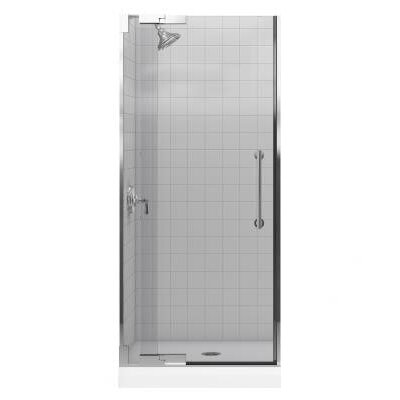 Kohler Purist Frameless PIVot Shower Door with 0.375&quot; Thick Crystal Clear Glass, 30.25&quot; - 32.75&quot; x 72.25&quot;