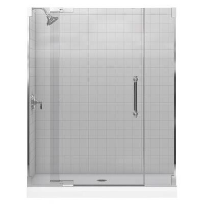 "Kohler Purist Frameless PIVot Shower Door with 0.25"" Thick Crystal Clear Glass, 30.25"" - 32.75"" x 72.25"""
