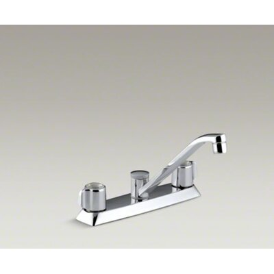 Coralais Kitchen Sink Faucet with Blade Handles and 7.63