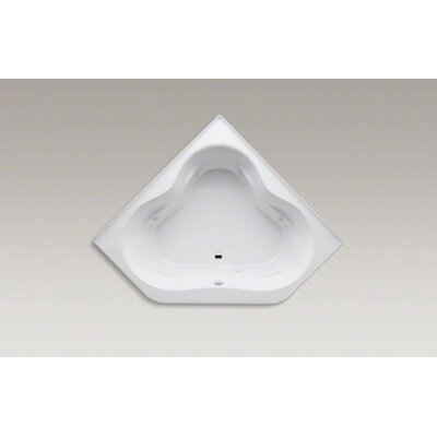 "Kohler Tercet 60"" X 60"" Whirlpool Bath with Tile Flange, Center Drain and Heater"