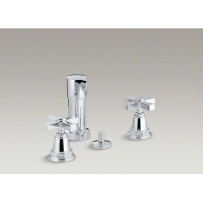 Kohler Pinstripe Pure Vertical Spray Bidet Faucet with Cross Handles