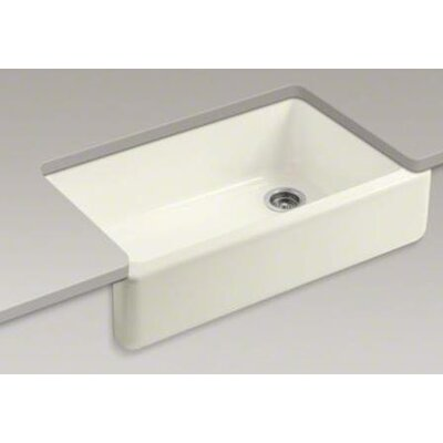 "Kohler Whitehaven Self-Trimming 35.69"" x 21.56"" x 9.63"" Under-Mount Single-Bowl Sink with Tall Apron"