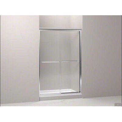 "Kohler Fluence Frameless Sliding Bath Door with Cavata Glass, 56.625"" - 59.625"" x 58.3125"""