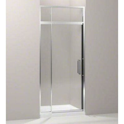 "Kohler Lattis Semi-Frameless Pivot Shower Door with 0.375"" Thick Crystal Clear Glass, 30"" - 33"" x 76"""