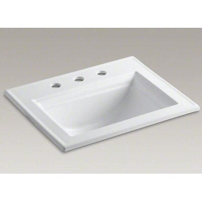 "Kohler Memoirs Self-Rimming Lavatory with Stately Design and 8"" Centers"