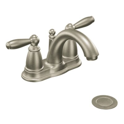 Moen Brantford Two Handle Centerset Low Arc Bathroom Faucet