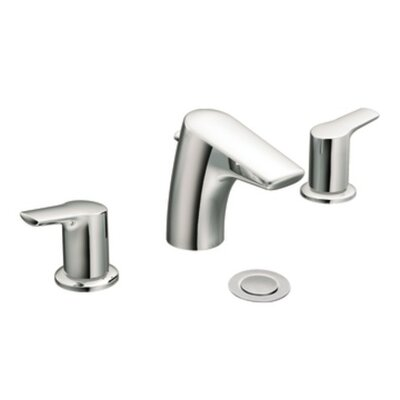 Moen Method Double Handle Widespread Low Arc Bathroom Faucet