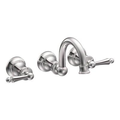 Waterhill Double Handle Widespread Wall Mount Bathroom Faucet - TS416