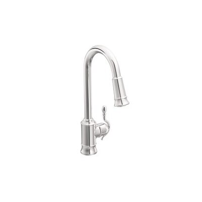 Woodmere One-Handle High Arc Pulldown Kitchen Faucet