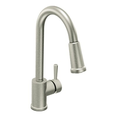 Level Single Handle Single Hole High Arc Pulldown Kitchen Faucet