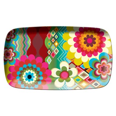 French Bull Mosaic Rectangular Platter