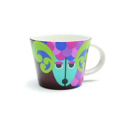 French Bull Aries Porcelain Mug
