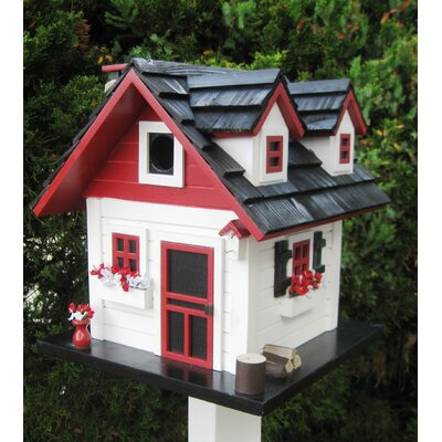 Home Bazaar Cottage Charmer Series Cherry Hill Free Standing Birdhouse