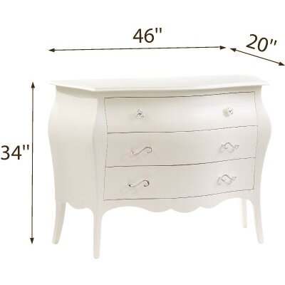 Natart Allegra 3 Drawer Dresser