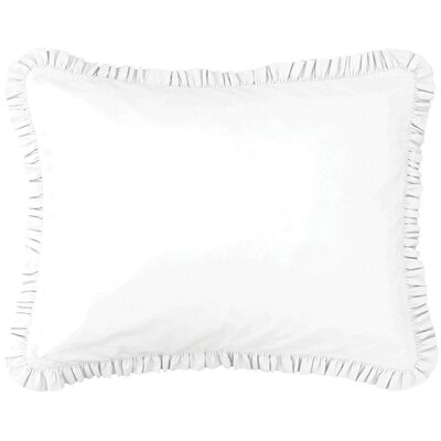 Pine Cone Hill Classic Ruffle Boudoir Pillow in White