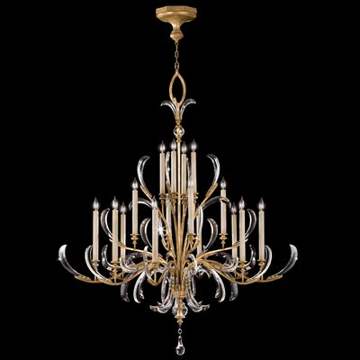 Fine Art Lamps Beveled Arcs Gold 16 Light Chandelier