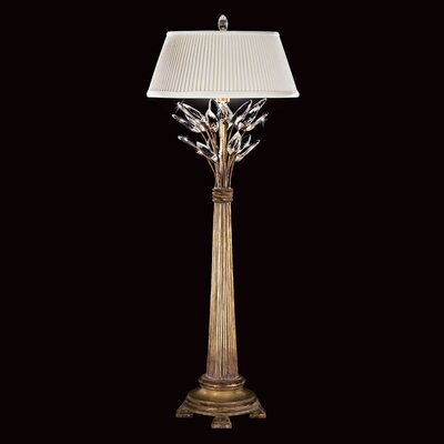 Fine Art Lamps Crystal Laurel Gold One Light Table Lamp in Antique Gold Leaf