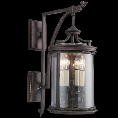 Fine Art Lamps Louvre 4 Light Outdoor Wall Lantern