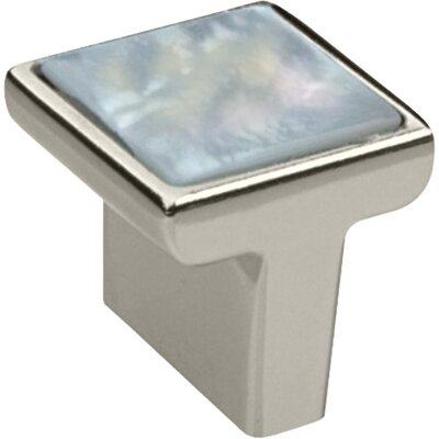 "Bosetti-Marella Genuine Mother of Pearl 1.18"" Knob in Polished Nickel"
