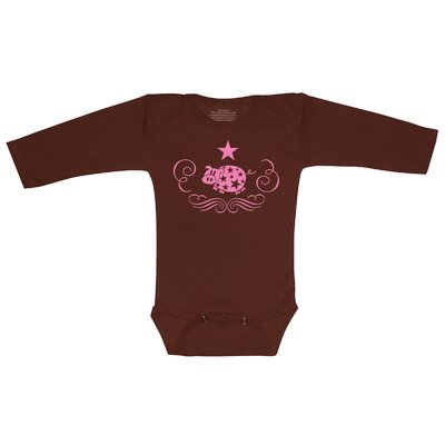 Redsnapper Super Piggy Bodysuit with Long Sleeve in Chocolate