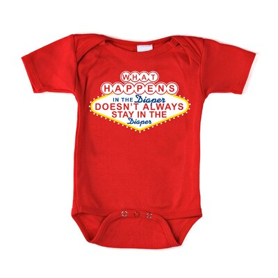 Redsnapper What Happens in the Diaper Short Sleeve Bodysuit