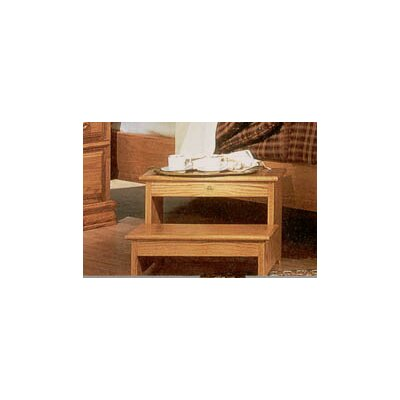 Bebe Furniture Country Heirloom Foot Step Stool in Light Wood