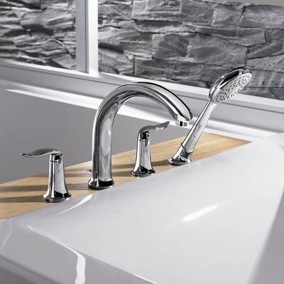 Hansa HansaStyle Double Handle Deck Mount Roman Tub Faucet Trim