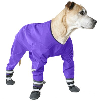 Muttluks Dog Jog Rainsuit in Purple