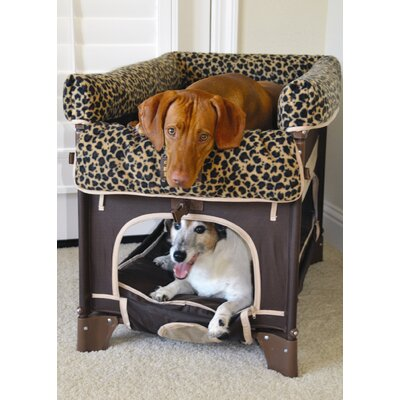 Arm's Reach Co-Sleeper Pet Bunk Bed Plush Leopard Liner - Large Size