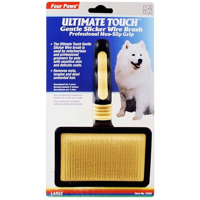 Four Paws Ultimate Touch Gentle Slicker Wire Brush for Small Dogs