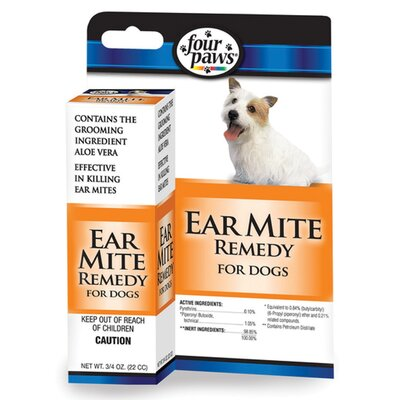 Four Paws Dog Ear Mite Remedy - 0.75 oz.