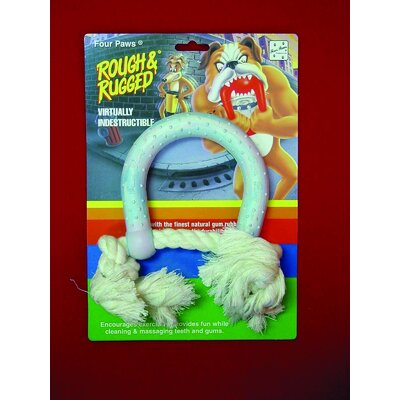 Four Paws Horseshoe Dog Toy With Rope