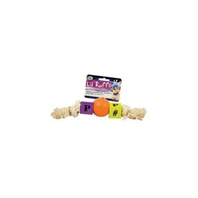 Four Paws Lil Ruffs Puppy Blocks, Pimple Ball and Rope Dog Toy