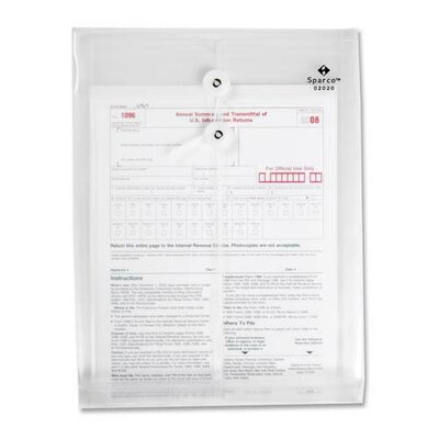 Sparco Products Inter-Departmental Poly Envelope, Top Opening, 10&quot;x13&quot;, Clear