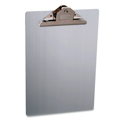 "Sparco Products Clipboard, Letter, 8-1/2""x12"", Aluminum"