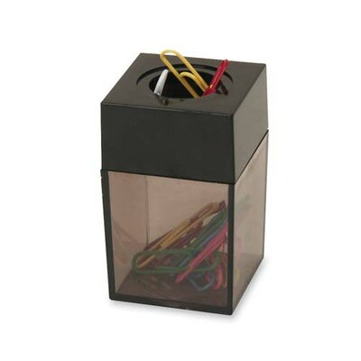 "Sparco Products Paper Clip Dispenser, Magnetic, 2""x3"", Smoke/Black"