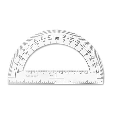Sparco Products Plastic Protractor, 6&quot; Long, Clear