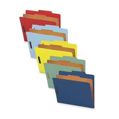 Sparco Products Classification Folders, w/ Fstnrs, 1 Dvdr, Letter, 10 per Box