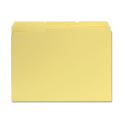 Sparco Products File Folders, 1/3 AST Tab Cut, Letter-Size, 100/BX, Yellow