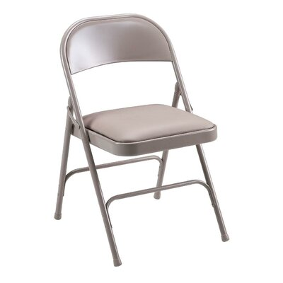 Lorell Folding Chair with Back (Set of 4)