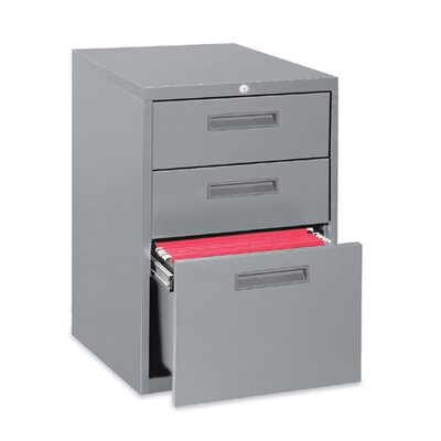 "Lorell 23"" Box/Box/File Mobile Pedestal Files, Light gray"